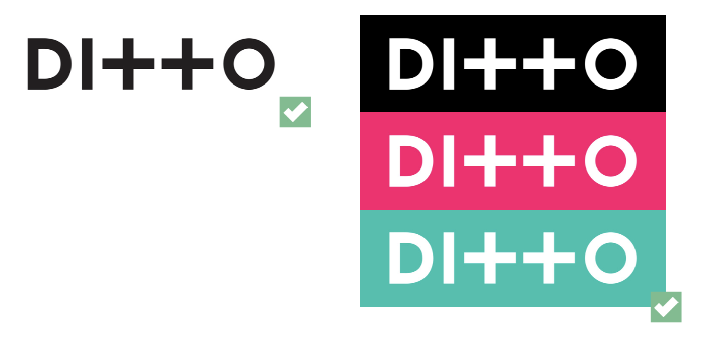 Ditto Music logo colour options